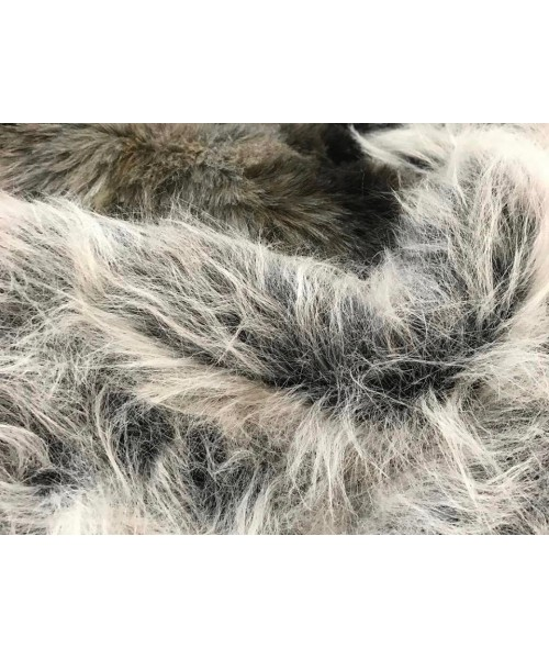 Fur Faux Long Grey and Black